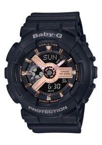 G Shock BA110RG Baby G Rose Gold Black   G shock watches, G