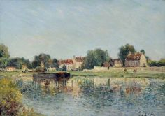 Le barrage a Saint-Mammes, France by Alfred Sisley