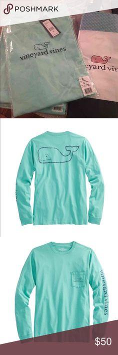 Vineyard Vines long sleeve whale graphic Long-Sleeve Vintage Whale Graphic Pocket T-Shirt BNWT  MENS XL  Color : MARINA  $50 retail Vineyard Vines Shirts Tees - Long Sleeve