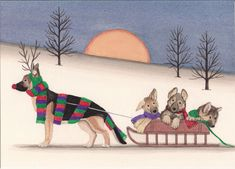 Hey, I found this really awesome Etsy listing at https://www.etsy.com/listing/109527330/12-christmas-cards-german-shepherd
