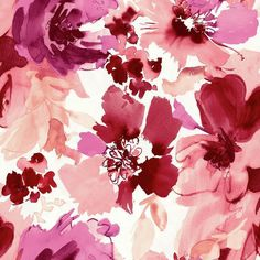 Aquarella Wallpaper in Red and Pink design by Stacy Garcia for York... ($50) ❤ liked on Polyvore featuring home, home decor, wallpaper, backgrounds, wallpaper samples, pink flamingo wallpaper, blossom wallpaper, red wallpaper, flower wallpaper and red home decor