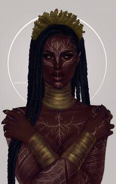 My name is Dahlia. Black Girl Art, Black Women Art, Black Girl Magic, Black Girl Aesthetic, Aesthetic Art, Character Portraits, Character Art, Black Art Painting, Black Art Pictures