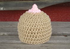 Crochet Breast hat - get attention for breast cancer awareness!