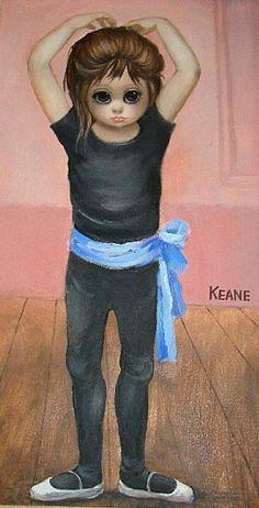 Big Eyes Blue Sash Ballerina by Margaret Keane