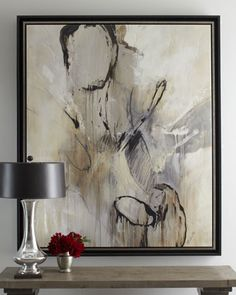 """""""Graffiti"""" Abstract Giclee -Found at Horchow. This painting is both soft and bold. Compliments the Safavieh beautifully. Abstract Oil, Abstract Canvas, Canvas Art, Industrial Wall Art, Deco Paint, Scale Art, Collage, Oeuvre D'art, Amazing Art"""