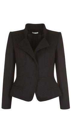 Jacket in lightweight wool drape