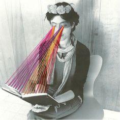 black/photo woolen threads