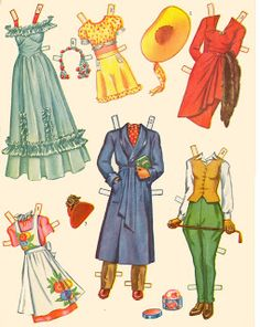 Kathleen Taylor's Dakota Dreams: Thursday Tab- Saalfield Paper Dolls and Wardrobe Box, 1944