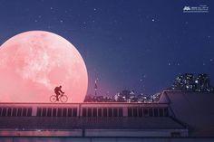 """좋아요 237개, 댓글 4개 - Instagram의 KUSH GRAPHIC(@kushgraphic)님: """"Pink moon  #그라폴리오 #일러스트 #앨범아트 #앨범자켓 #아트워크 #달  #아트 #그래픽디자인 #몽환 #디자인 #앨범커버 #아트웤 #맞팔 #오오티디 #소통 #데일리…"""""""