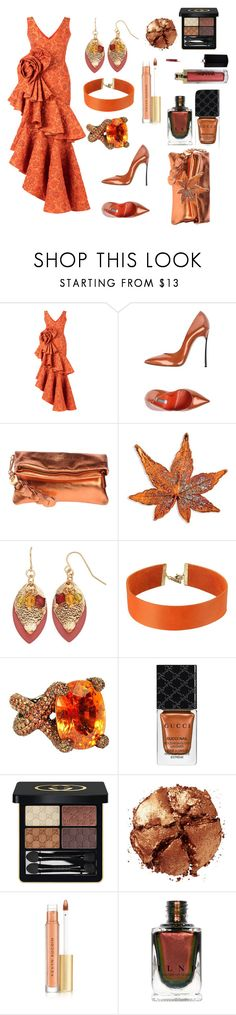 Fall Date Night by siriusfunbysheila1954 on Polyvore featuring Bambah, Casadei, Innue, Vanessa Mooney, Colleen B. Rosenblat, Gucci, Pat McGrath and Kevyn Aucoin