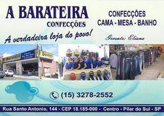 A BARATEIRA CONFECÇÕES A verdadeira loja do povo!