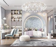 Portfolio: Apartment in residential complex «Capital Towers Elegant Dining Room, Elegant Home Decor, Luxury Home Decor, Luxury Homes, Interior Exterior, Interior Design, Living Room Decor, Bedroom Decor, Master Bedroom Interior