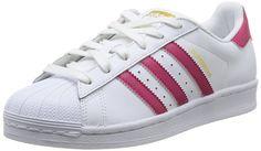 timeless design 8d04a 01d81 adidas Superstar Foundation J - Zapatillas para niño, color blanco    fucsia, talla 39