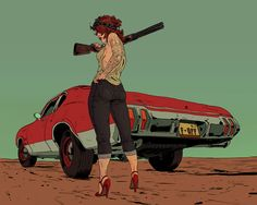Comic book artist, graphic designer and illustrator Robert Sammelin has a knack for drawing some bad ass ladies.