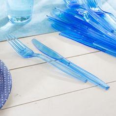 Sztućce jednorazowe plastikowe DUNI NIEBIESKIE 20 szt.