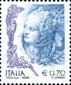 """2004 - """"La Donna nell'arte"""": particolare del volto nel dipinto """"Nettuno offre doni a Venezia"""" del Tiepolo - Palazzo Ducale di Venezia."""