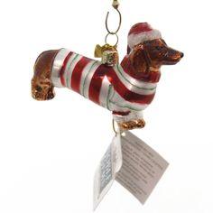 Holiday Ornaments Glass Dachshund Noble Gem Glass Ornament