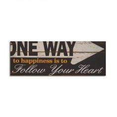 One Way 32 in Wood Sign