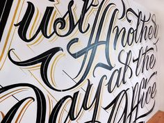 Mateusz Witczak is a self-taught lettering artist and graphic designer currently living in Warsaw, Poland.  More lettering inspiration Visit his website
