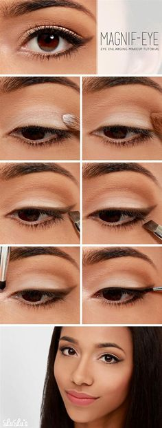 Eye enlarging makeup tutorial - Head over to Pampadour.com for product suggestions to recreate this beauty look! Pampadour.com is a community of beauty bloggers, professionals, brands and beauty enthusiasts! #makeup #howto #tutorial #beauty  #eyes #eyeshadow #cosmetics #beautiful #pretty #love #pampadour