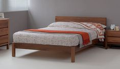 Sahara | Contemporary Wooden Bed | Natural Bed Company - Double Ash £820