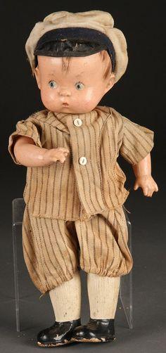 1930's Rare Effanbee Skippy Baseball Player Doll
