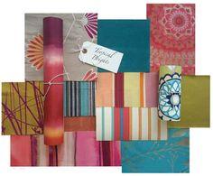 Indian Summer inspired fabrics and wallpapers by Harlequin  Värejä!!!!