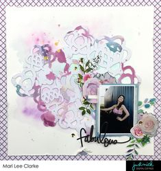 Scrapbook layout for JustNick Studio cut file shop and blog by Mari Clarke