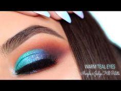 Bright Teal & Warm Eye Makeup | Morphe x Jaclyn Hill Palette Tutorial - YouTube