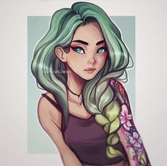 I felt inspired by the colorful tattoo art of candy cane, over at , who are located in my home city! Hope you guys like it artist:cyarin Art And Illustration, Character Design Girl, Drawn Art, Arte Pop, Character Drawing, Cute Drawings, Cute Art, Art Inspo, Art Girl