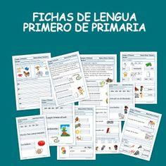 Fichas de lengua para Primero de Primaria (3-4 años)