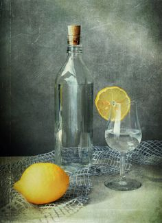 Still life - lemon and water