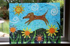 Weiner dog mosaic. Love this!