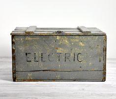 Grey Wooden Crate