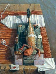 Camaleonte ~ by Italian Artist, Agostino Arrivabene was born in 1967, lives and works in Gradella di Pandino (CR) Italy.