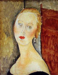 Amedeo Modigliani, La donna bionda, 1918.