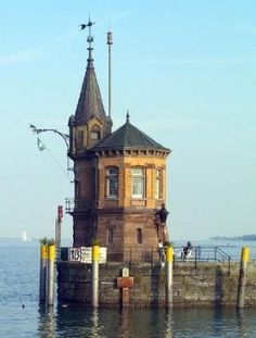 One of the most beautiful places ever! Lindau am Bodensee! Had a great time with the Germans! ~ The Bodensee Lighthouse, Bodensee, Germany ~ Lighthouse Pictures, Beacon Of Light, Cabana, Places To See, Beautiful Places, Destinations, Scenery, Castle, Around The Worlds