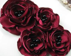 TRES flor tela flor ramillete broche en por MariaLouiseHightoo
