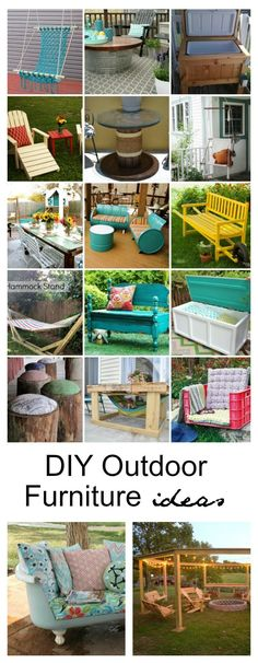 Outdoor Ideas | With these DIY Outdoor Furniture Ideas you can find many ways to re-purpose materials that are brightly colored and simple to make.