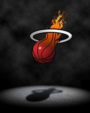 Burning miami heat logo iphone 5 5s 5c hd wallpaper and background miami heat voltagebd Choice Image