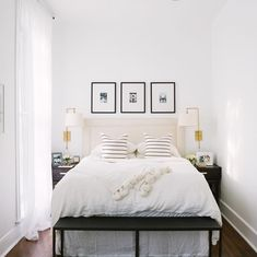 Such rooms as guest bedrooms are often small, too, though we need to accommodate a lot inside to let the guest feel comfortable. How to design a comfortable guest bedroom with everything necessary? Here are some tips and examples. Small Guest Rooms, Small Space Bedroom, Guest Bedrooms, Simple Bedroom Small, Narrow Bedroom Ideas, Spare Bedroom Ideas, Spare Room, Bedroom Setup, Home Bedroom