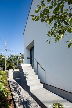 アプローチ(中庭のあるスキップフロアの家・オウチ32) - 玄関事例|SUVACO(スバコ)