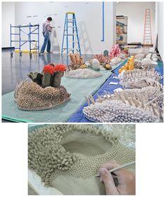 Installation of <em>Our Changing Seas III </em>...