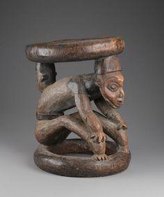 Bamilike/Bamenda Figurative Stool, Cameroon