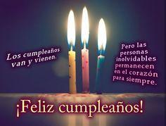 Feliz cumpleaños...