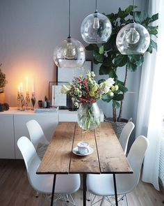 Rustic Dining Rooms That Will Make Your Farmhouse Shine ✓ - Page 35 of 49 - Best Home Decor Dining Room Design, Interior Design Living Room, Dining Rooms, Ikea Interior, Kitchen Interior, Farmhouse Interior, Farmhouse Decor, Hygge Home, Room Inspiration