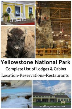 Everything you need to know to plan an epic Yellowstone National Park vacation! Lodging options covered include the Old Faithful Inn, Mammoth Hot Spri Cabins Near Yellowstone, West Yellowstone Montana, Yellowstone Vacation, National Park Lodges, National Parks, Yellowstone National Park Hotels, Lake Hotel, Tennessee Vacation, Alaska Travel