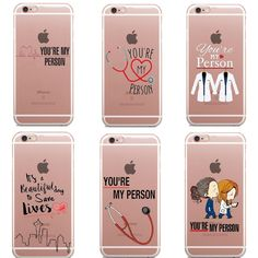 You're My Person Quote Personalised Grey's Anatomy Thin silicone TPU Phone Case For iphone 5 SE 6 Friends Phone Case, Diy Phone Case, Iphone Phone Cases, Iphone 5c, Apple Iphone 6, Frases Greys Anatomy, Greys Anatomy Gifts, Grey Anatomy Quotes, Grays Anatomy