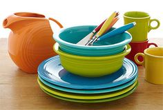 Color everywhere makes me happy so Fiesta dinnerware for my kitchen please