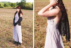 Leather Jacket and ChiffonDress, new trendy look on fashion-utopia.com